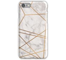 Golden Poly Marble iPhone Case/Skin