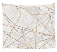 Golden Poly Marble Wall Tapestry