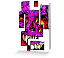 Shattered Face Greeting Card