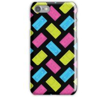 Gameboy, Cassette, and VHS Neon (black) iPhone Case/Skin