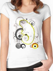 Chameleon Vector Dynasty Women's Fitted Scoop T-Shirt