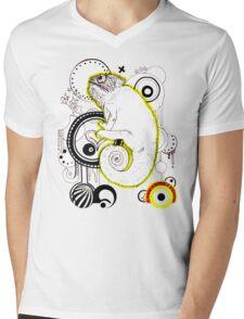 Chameleon Vector Dynasty Mens V-Neck T-Shirt