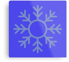 Blue Snowflake Ornament Metal Print