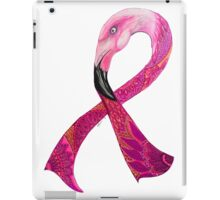Flamingo pink ribbon  iPad Case/Skin