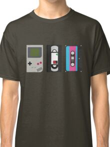 Gameboy, Cassette, and VHS Classic (black) Classic T-Shirt
