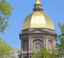 Golden Dome Through the Trees-Notre Dame Sticker
