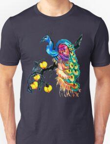 Peacock in a Peach Tree  T-Shirt