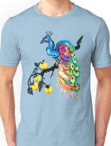 Peacock in a Peach Tree  Unisex T-Shirt