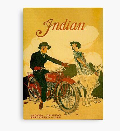 Old Vintage Motorcycle Art Canvas Print