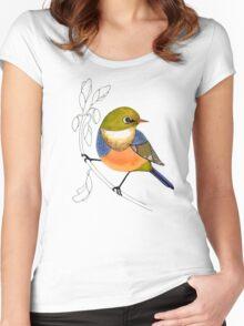 Silvereye bird Women's Fitted Scoop T-Shirt