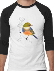 Silvereye bird Men's Baseball ¾ T-Shirt