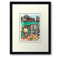 Metallic Pudding Illustrated Framed Print