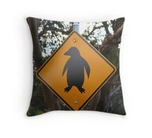 Watch out for penguins! Throw Pillow