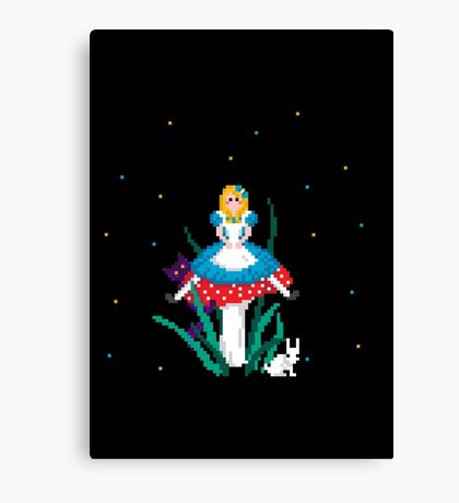 Alice on the Toadstool Canvas Print