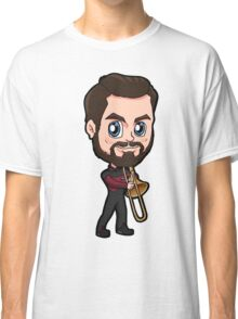 Star Trek TNG William T. Riker Commanding Officer Chibi Classic T-Shirt