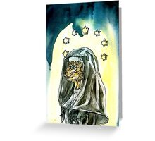Reptilian Nun Greeting Card