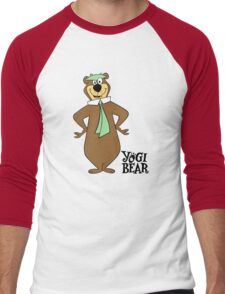 Yogi Bear - Bbo Bear - Cartoo Men's Baseball ¾ T-Shirt