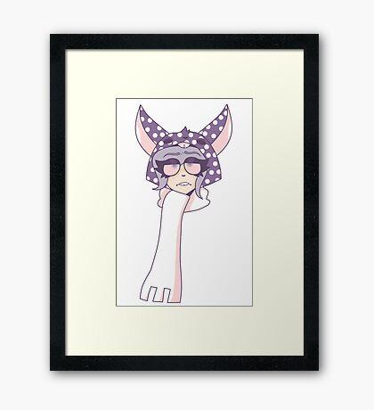 Depressed Hoodie Framed Print