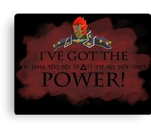 Ganondorf and the Triforce of Power Canvas Print