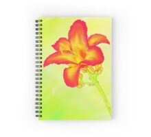 Red Daylily Spiral Notebook