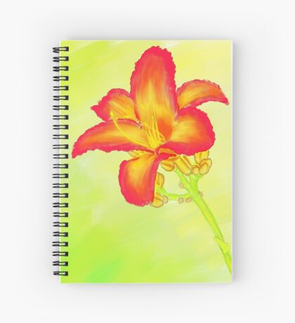 Red Daylily Spiral Notebook