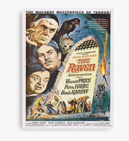 Vintage poster - The Raven Canvas Print