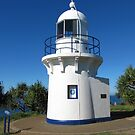 Lighthouse on Fingal Head, Kingscliff. N.S.W. far nth. Coast. by Rita Blom