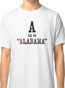 Alabama T-shirt - Alphabet Letter Classic T-Shirt