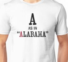 Alabama T-shirt - Alphabet Letter Unisex T-Shirt