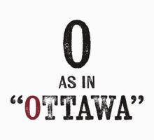 Ottawa CanadaT-shirt - Alphabet Letter One Piece - Long Sleeve