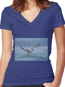 Pelican Lift Off Women's Fitted V-Neck T-Shirt