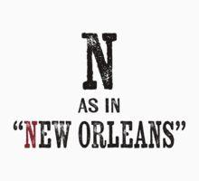 New Orleans LouisianaT-shirt - Alphabet Letter Kids Tee