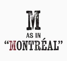 Montreal QuebecT-shirt - Alphabet Letter Kids Tee