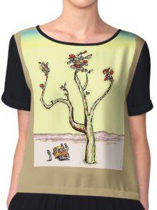 Psychedelic Desert Plant Chiffon Top