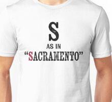 Sacramento CaliforniaT-shirt - Alphabet Letter Unisex T-Shirt