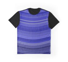 Pixelated Blue Waves Pattern Graphic T-Shirt