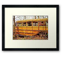 Hunting Bus Framed Print