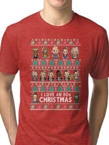 lil 80s Movie Christmas Jumper Tri-blend T-Shirt