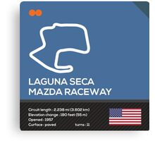 Laguna seca racetrack Canvas Print