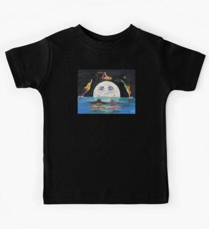 Mermaids Jumping Over Moon Cathy Peek Fantasy Kids Tee