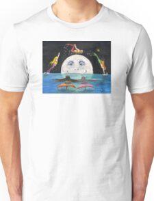 Mermaids Jumping Over Moon Cathy Peek Fantasy Unisex T-Shirt