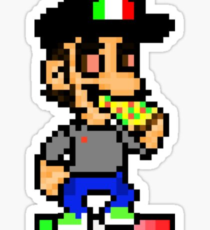 Father Pizza Polo - Pixels Sticker