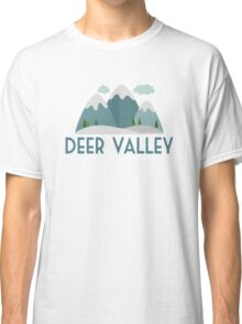 Deer Valley Ski T-shirt - Skiing Mountain Classic T-Shirt