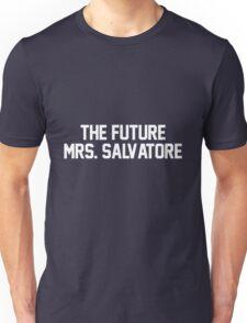 The Future Mrs. Salvatore-- White Unisex T-Shirt