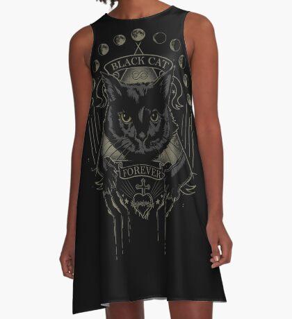 Black Cat Cult A-Line Dress