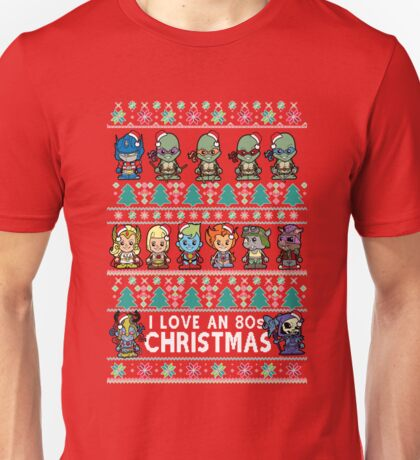 Lil 80s Cartoon Christmas Jumper Unisex T-Shirt