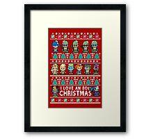Lil 80s Cartoon Christmas Jumper Framed Print