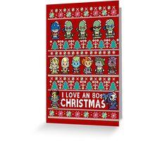 Lil 80s Cartoon Christmas Jumper Greeting Card