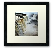 Devil's Throat at Iguassu Falls, Brazil & Argentina.  Framed Print