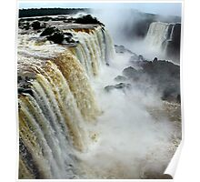 Devil's Throat at Iguassu Falls, Brazil & Argentina.  Poster